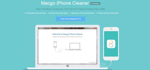 Macgo iPhone Cleaner for Windows giveaway