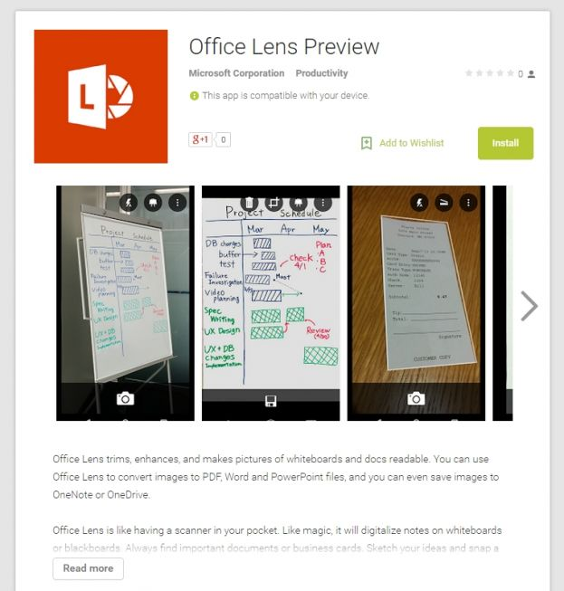 Office Lens za Android