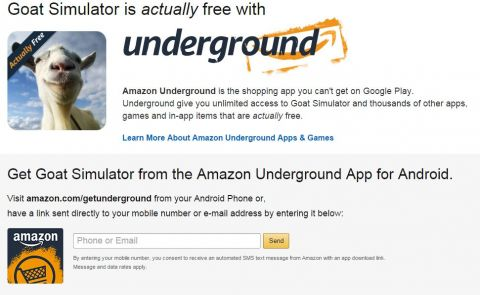 Goat Simulator FREE on Amazon Underground